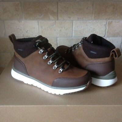 3aeb2a057f0 UGG OLIVERT GRIZZLY Brown Waterproof Leather Hiker Snow Boots Shoes Size 13  Men