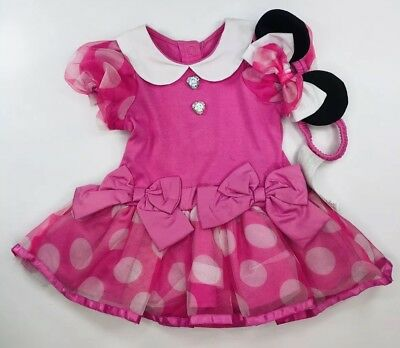 Disney Baby Toddler Girls Size 9-12 Months Dress Minnie Mouse Pink Costume