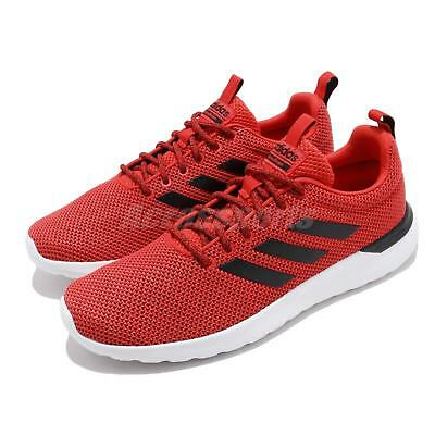 new product d418a b7881 adidas Lite Racer CLN Active Red Black White Men Running Shoes Sneakers  F34571
