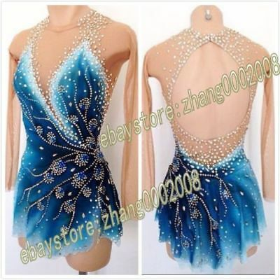 Stylish Ice Skating Dress.Competition Figure Skating Dress.Baton Twirling Dress