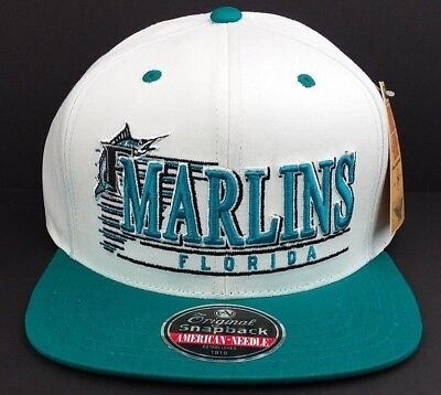 on sale ef624 1e9be FLORIDA MARLINS MLB/AMERICAN Needle est.1918/Snap-back/Hat/Cap/Throwback