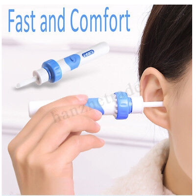 Safety Electric Cordless Vacuum Ear Cleaner Cleaning Wax Remover Painless  HOT