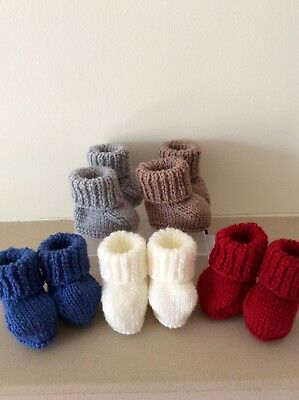 Brand New Hand Knitted Newborn Baby  Bootees  #wow#