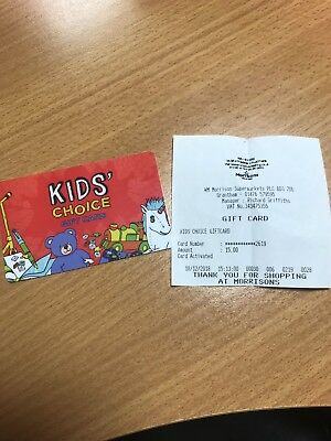 Kids Choice Gift Card £15  Unwanted Christmas Present
