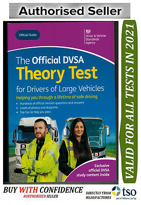 UK Official DSA Theory Test Book for Drivers of Large Vehicles LGV PCV 2019*LGV
