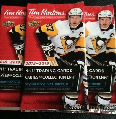 2018-19 Upper Deck Tim Hortons Sealed 5 Packs! ✨
