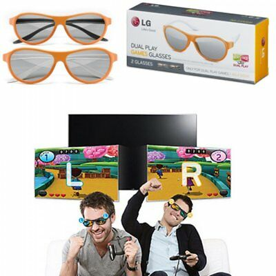 LG Dual Play Games Glasses AG-F310DP (2 Glasses in Box) Pair Home Television