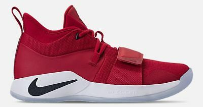 NIKE PG 2.5 MEN's BASKETBALL GYM RED - DARK OBSIDIAN - WHITE AUTHENTIC NEW SIZE
