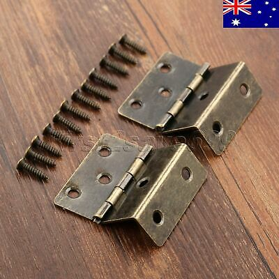 Small Vintage Metal Folding Hinges Wooden Box Drawer Cabinet Door Hinge AU STOCK