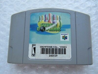 Super Bowling Nintendo 64 N64 Authentic Blockbuster Exculsive OEM Video Game #1