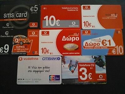 LOT 2  - VODAFONE 8 Greek Phone cards difference