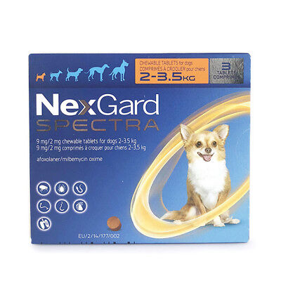 AU NexGard For Dogs - - Flea Treatment Chew 3 tablets/box 3 chews- All Sizes