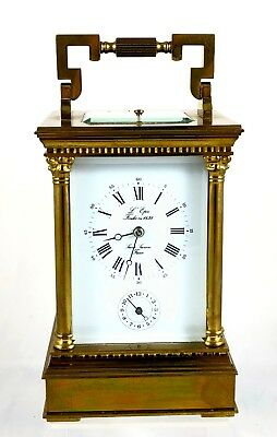Stunning L'epee 8 Day Repeater & Alarm Grande Carriage Clock ** Working Order **