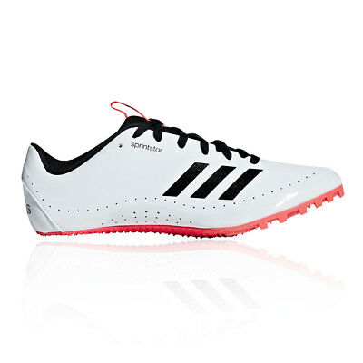 premium selection 6359d 31e51 adidas Womens Sprintstar Running Spikes Traction Black Red White Sports