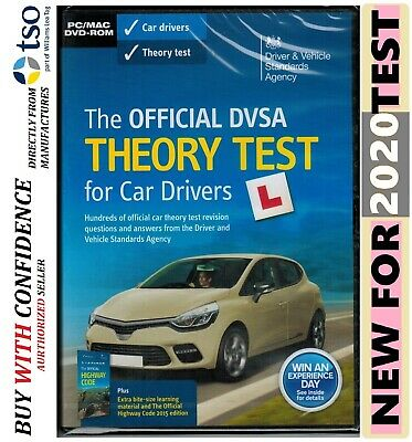 The Official DSA Theory Test for 2019 Car Drivers PC DVD ROM PC MAC*Theory Dvd