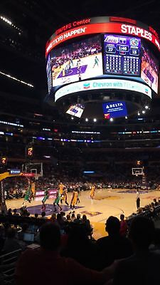 Los Angeles Lakers vs New Orleans Pelicans Lower Level 114 Game Tickets 12/25/17