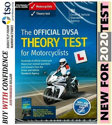 The official DSA DVSA theory test DVD for motorcyclists 2019 motorcycle * MTrDv