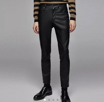 a42327288 ZARA MENS FAUX leather trousers