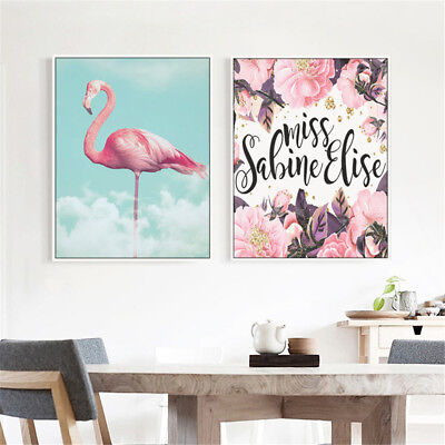 Nordic Flamingo Canvas Art Poster Print Wall Picture Home Room Decor Unframed