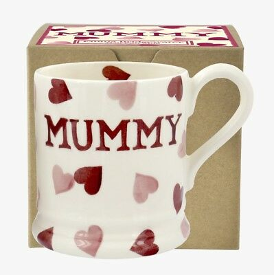 Emma Bridgewater Pink Hearts Mummy 1/2 Pint Mug New & Boxed 1st Quality