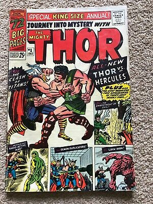 JOURNEY INTO MYSTERY: THOR (Marvel Comics) ANNUAL # 1 (1965) - G