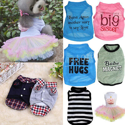 Pet Puppy Clothing Dogs Cat Shirt Coat Female Dogs Dress Apparel Costume I