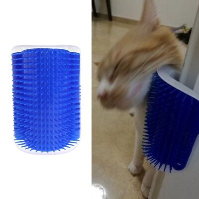 Cat Pet Self Groomer Hair Removal Comb Brush Trimming Massage With Catnip