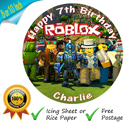 Roblox Game Cake Topper Personalised Edible Printed Birthday Cake Topper