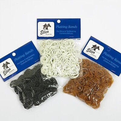 Elico rubber plaiting bands.great value. Black, brown or white. Great value !