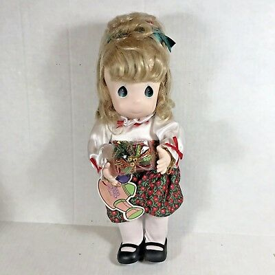 Precious Moments Doll Holly December 1466 First Edition Garden of Friends Xmas