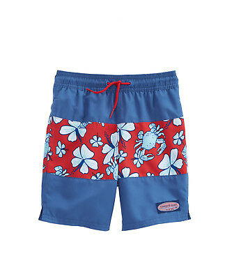 NWT Men's Crab Vineyard Vines Swim Chappy Trunks Size Small S Red NEW Shorts