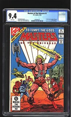 Masters of the Universe 1 CGC 9.4 NM He-Man Dick Giordano cover DC Mattel 1982