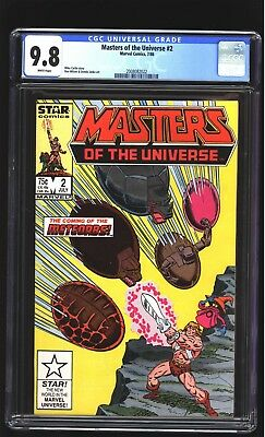 Masters of the Universe 2 CGC 9.8 NM/MINT He-Man Battle Cat Skeletor Marvel 1986