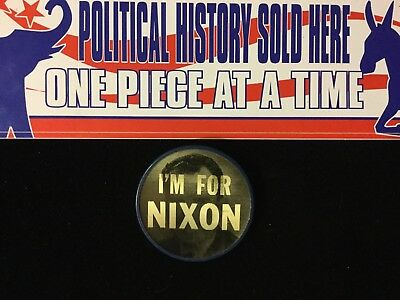 I'm For Nixon 2 1/2 Inch Vari-Vue Flasher Button  Box 9