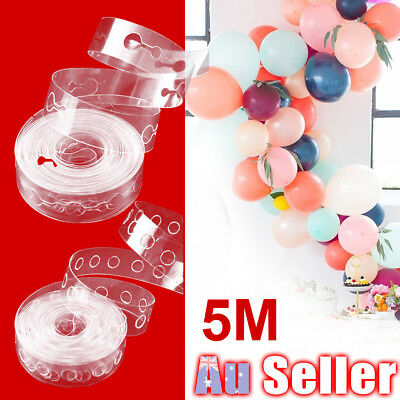 5m Decor Chain DIY Balloon Decorating String Cake Gift Table Arch Strip Tape