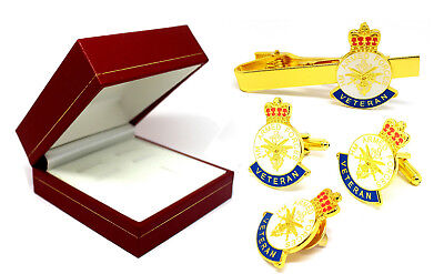 Hm Armed Forces Pin Badge+Cufflink+Tieclip With Red Gift Box