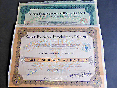 LOT : 2 Différents SOCIETE FONCIERE & IMMOBILIERE DU TREPORT 1926