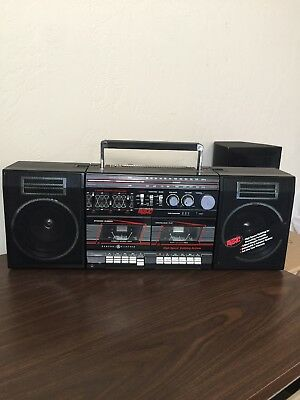 GE Vintage Radio Cassette Recorder The power Of Music Boombox