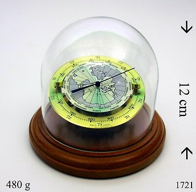 Barometer mit Anleitung Messing Glas Naturholz