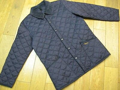 Barbour Lightweight Liddesdale Quilted Jacket Size:large Colour:navy Blue