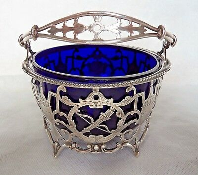 Large Antique 1915 Neo-Classical Sterling / Solid Silver Sugar Bowl / Basket