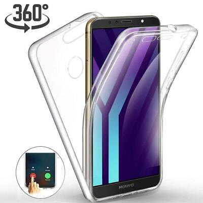 New 360 Clear Shockproof Hard Back Phone Case For Huawei Y7 Prime 2018 LDN-L01