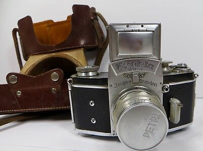 Vintage Exakta Thagee Dresden 35mm Camera For Parts Repair Only