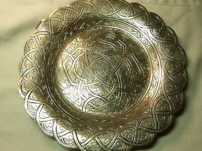 Vintage Egyptian Silver Islamic Dish 152.6G 17Cm