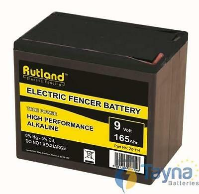 Rutland 9V 165Ah Alkaline Electric Fence Batterij