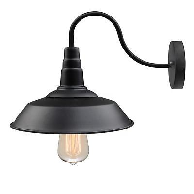 LNC 1-Light Gooseneck Wall Sconce Incandescent LED Farmhouse Lighting Black