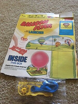 Vintage Post Cereal Box Balloon Flyer W/ Sealed Plastic Balloon Launcher