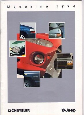 CHRYSLER JEEP Catalogue magazine du 16/09/94 de 16 pages avec PROTOTYPES-