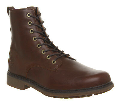 Mens Timberland Lux Lace Up Boots Brown Leather Boots