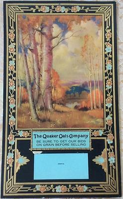 Antique Art Deco Nouveau 1931 Quaker Oats calendar advertising paper grain